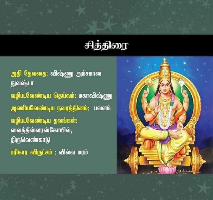 chithirai nakshatra god in tamil
