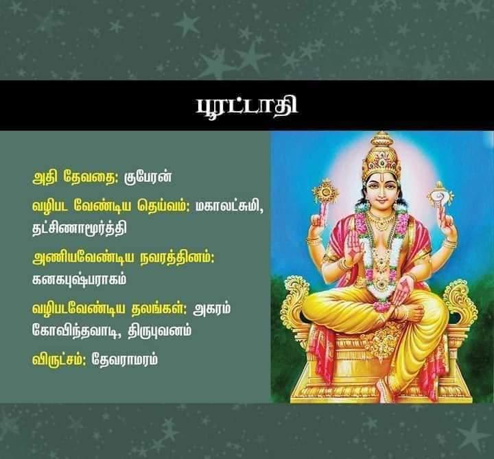 poorattathi nakshatra god in tamil