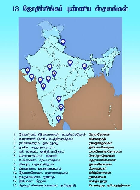 13 jyotirlinga list in tamil