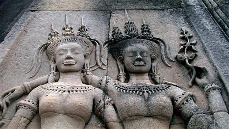 Cambodia Angkor Wat Temple Sculptures